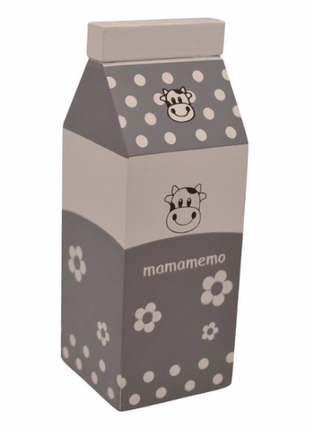 Mamamemo Wooden Play Food - Milk Box - Grey